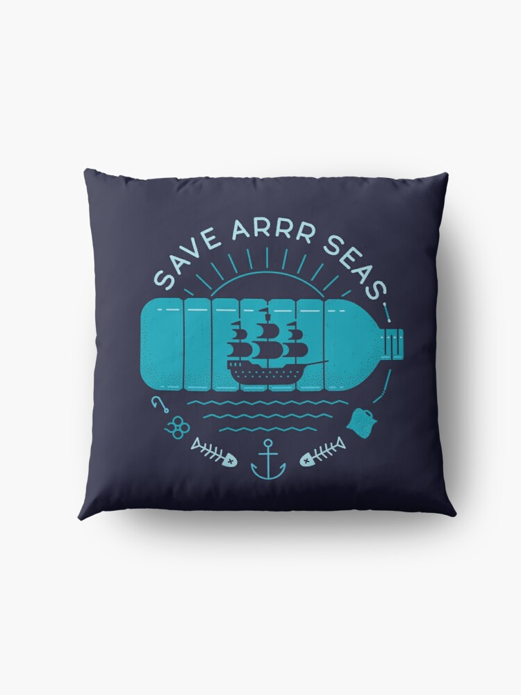 Alternate view of Save Arrr Seas Floor Pillow