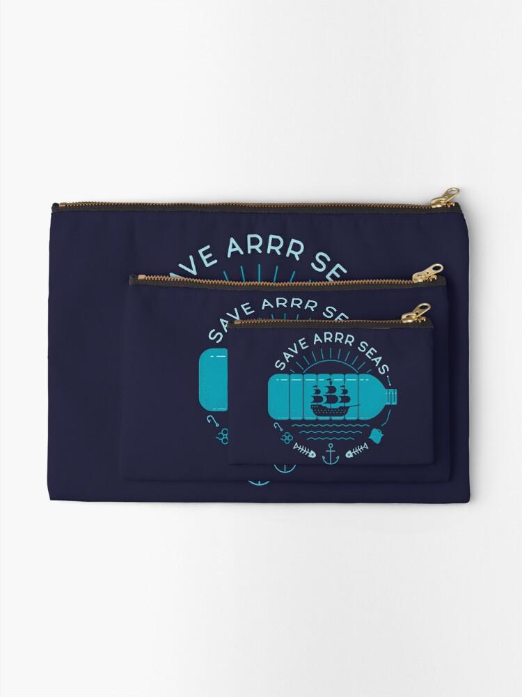 Alternate view of Save Arrr Seas Zipper Pouch