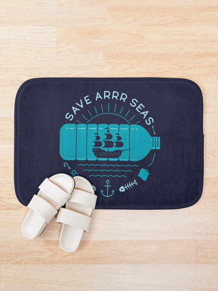 Alternate view of Save Arrr Seas Bath Mat