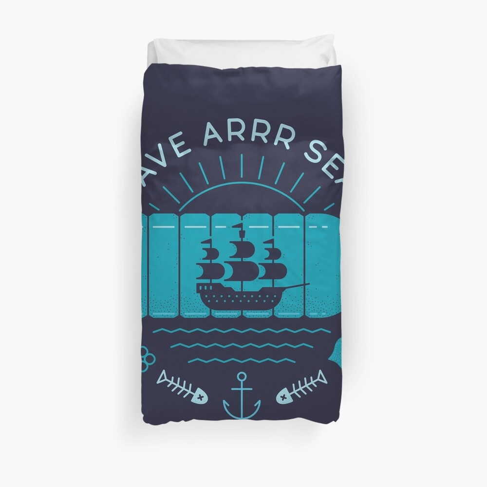 Save Arrr Seas Duvet Cover