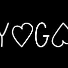 Yoga tee, love by ColorsHappiness