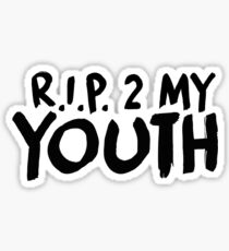 R.I.P. 2 My Youth Sticker