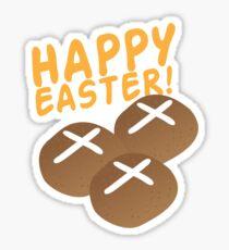 Hot cross buns HAPPY EASTER Sticker