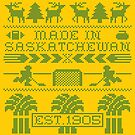 Saskatchewan Ugly Sweater (Green) by madeinsask