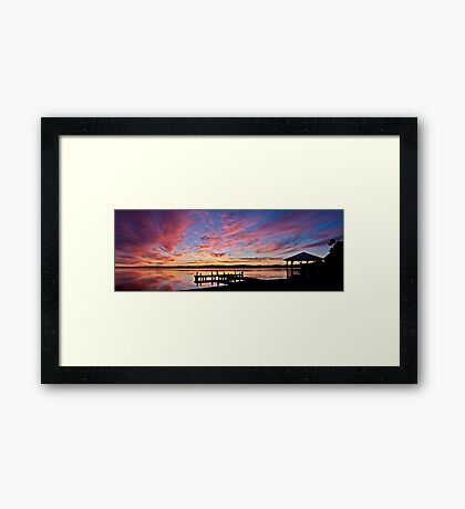 Squid's Ink Sunset Panorama Framed Print