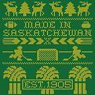 Saskatchewan Ugly Sweater (Yellow) by madeinsask