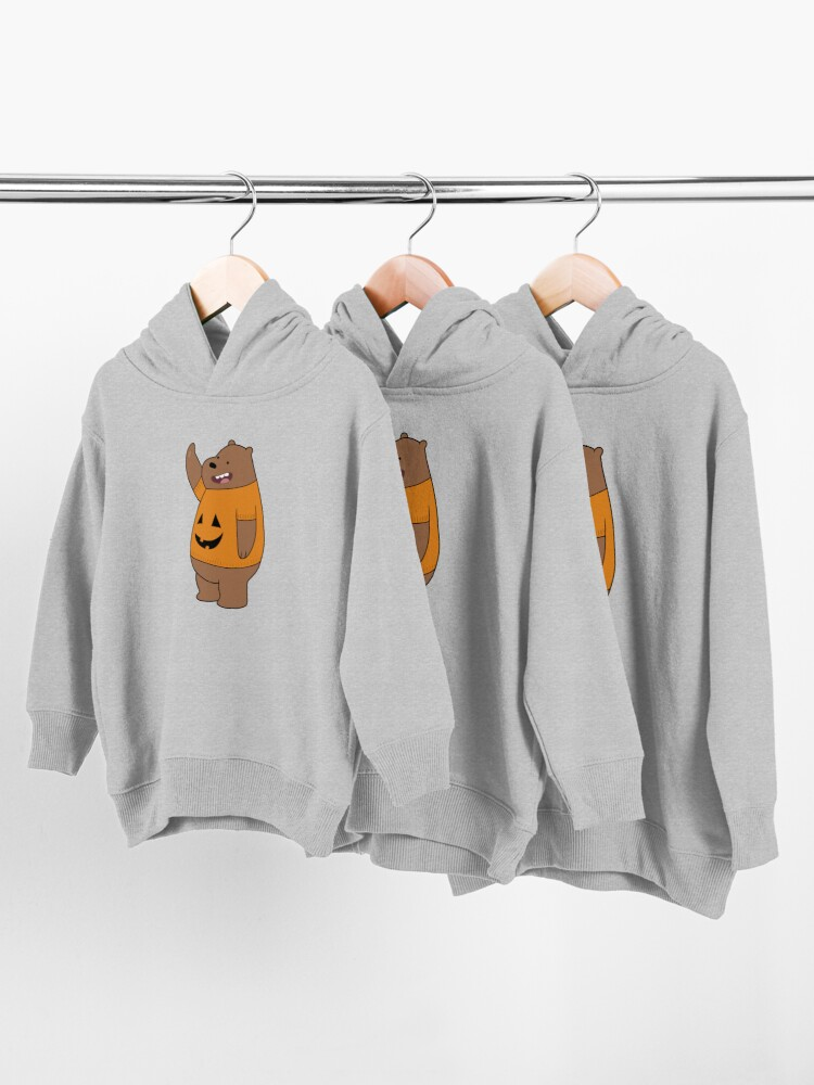Alternate view of We Bare Bears - Grizzly - Halloween Toddler Pullover Hoodie