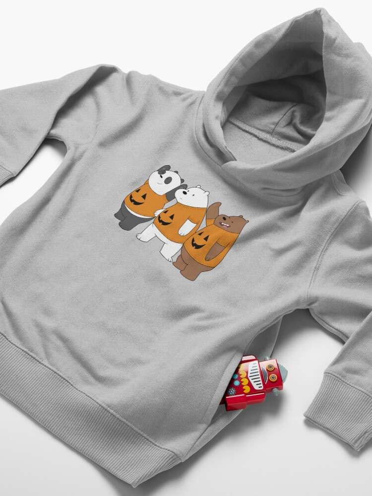 Alternate view of We Bare Bears -  Halloween Toddler Pullover Hoodie