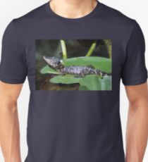 Smiling Baby Alligator Sleeping on Lilly Pad Unisex T-Shirt