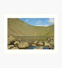 Goats Water and Goats Hause Art Print