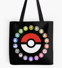 Pokemon Type Wheel Tote Bag