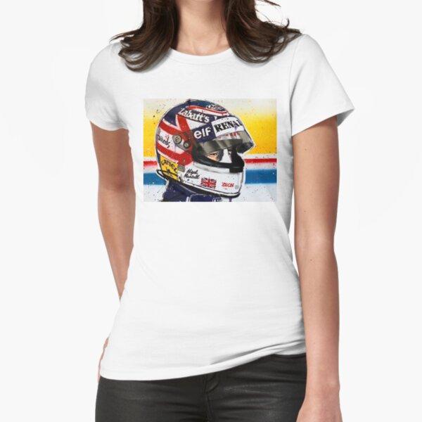 Nigel Mansell - Williams F1 graffiti painting by DRAutoArt Fitted T-Shirt