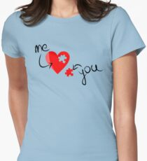 LOVE PUZZLE Womens Fitted T-Shirt