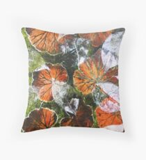 November's Garden 6 - Monoprint Throw Pillow