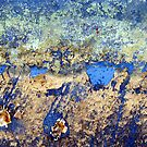 Abstract in Blue by Kathie Nichols