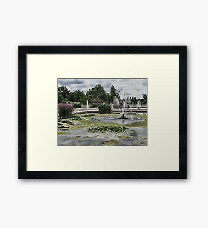 Italian Garden, Hyde Park. Framed Print