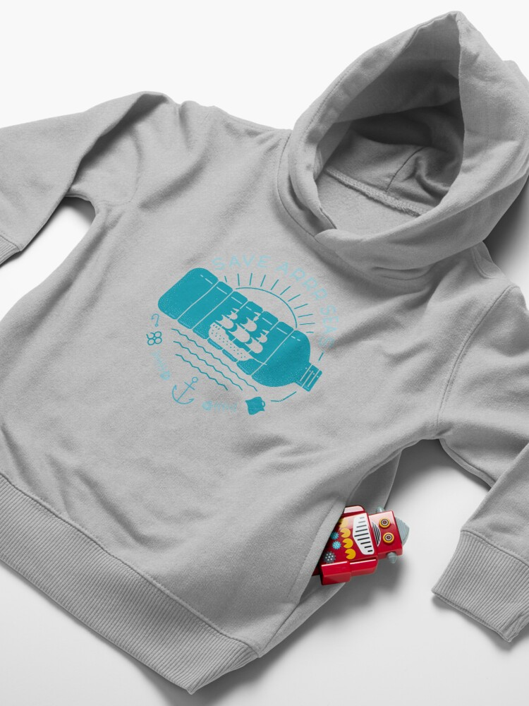 Alternate view of Save Arrr Seas Toddler Pullover Hoodie