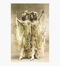 French Dancers vintage photo Photographic Print