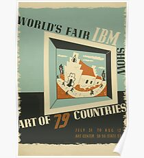WPA United States Government Work Project Administration Poster 0742 World's Fair IBM Show Poster