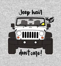 Jeep Hair Dont Care - White Kids Pullover Hoodie