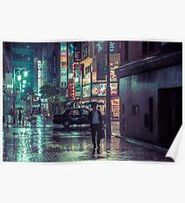 The Smiling Man // Rainy Tokyo Nights Poster