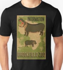 WPA United States Government Work Project Administration Poster 0878 Information Brookfield Zoo Unisex T-Shirt