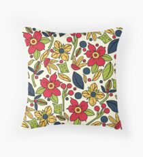 Floral Delights Bright Throw Pillow