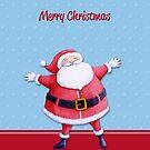 Santa Claus blue by Mariana Musa