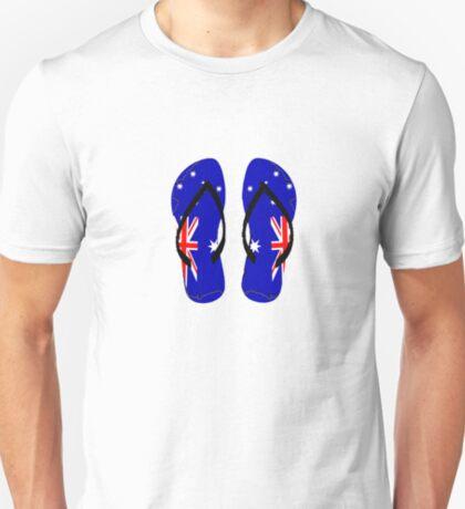 Australian Flag Thongs T-Shirt T-Shirt