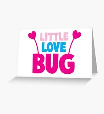 Little love bug with cute little antennae matching big love bug Greeting Card