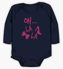 Oh La La! with bow and heels One Piece - Long Sleeve
