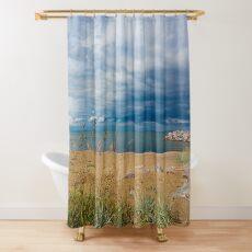 Stormy Beach, Calm after the storm, Beach house decor Shower Curtain