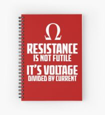 Funny Electrician - Physics T Shirt Spiral Notebook