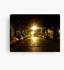 Street at night, street at light Canvas Print