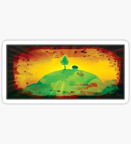 little fir tree - tee Sticker