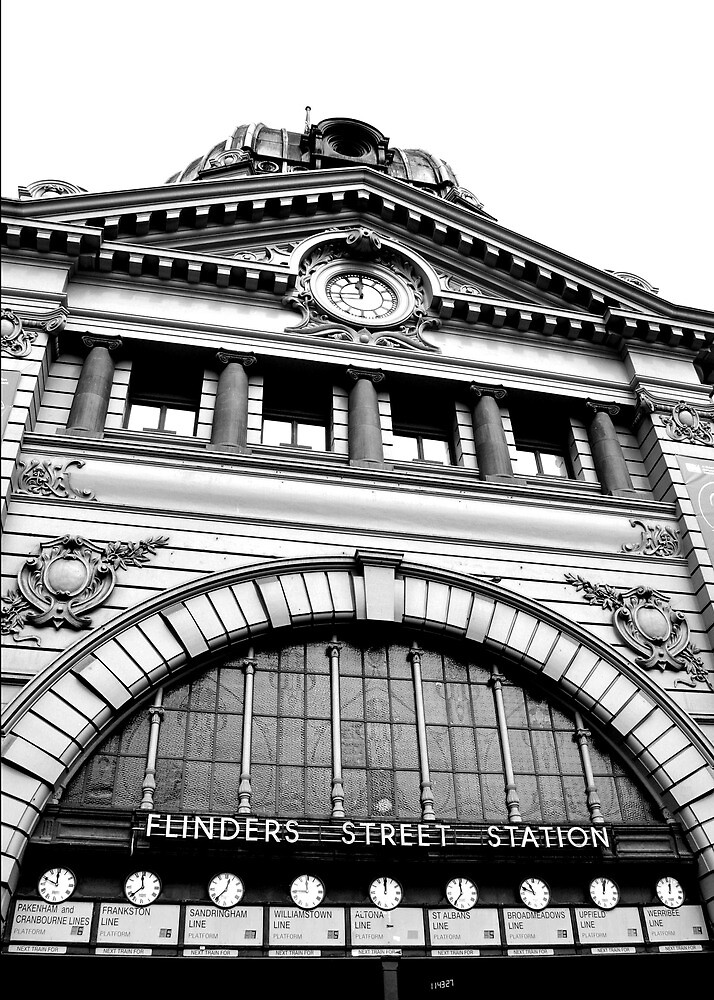 Flinders Street Station by Carol Knudsen