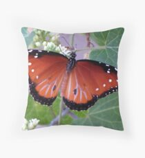 Black and White and Red All Over Throw Pillow