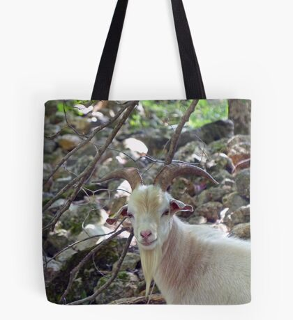 A handsome Billy Goat Tote Bag