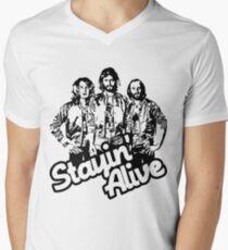 Stayin' Alive Men's V-Neck T-Shirt