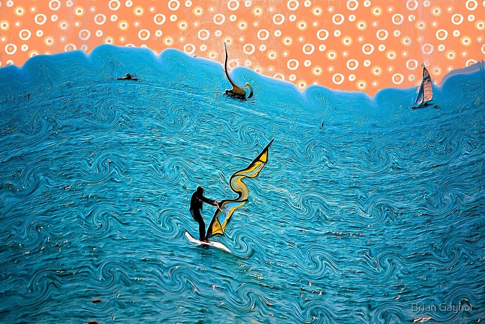 Abstract Sailing Dreams by Brian Gaynor