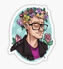 flower crown - Seb Sticker