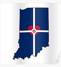 Indy Flag Indiana Poster