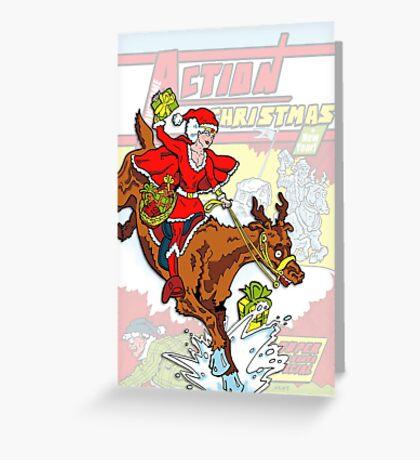 Action Christmas - Wonder Santa Pop! Greeting Card