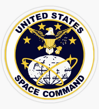 United States Space Command Transparent Sticker