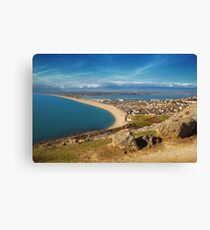 Chesil Beach, Westward Canvas Print