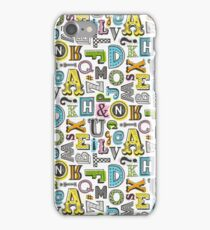 Alphabet Letters Doodle iPhone Case/Skin