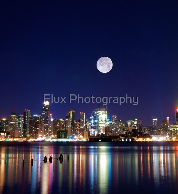 NYC skyline at night from New Jersey by Flux Photography