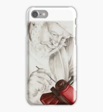 Santa hard at work. iPhone Case/Skin