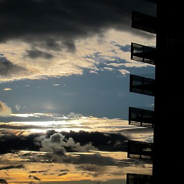 Stormy sunset at the office by dalegillard