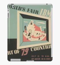 WPA United States Government Work Project Administration Poster 0744 World's Fair IBM Show iPad Case/Skin